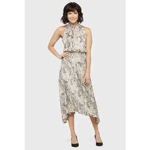 Allison Joy Cora Maxi Dress Snake Print Size L